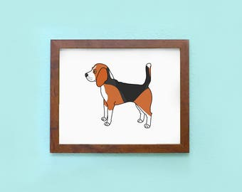 Beagle Buddy - Art Print