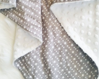 Baby Blanket, minky baby blanket, Woven Plus, personalized baby blanket, gender neutral baby bedding, toddler bedding