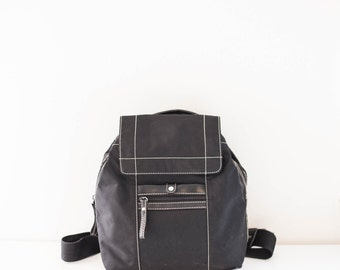 NINE WEST black fabric nylon backpack bag
