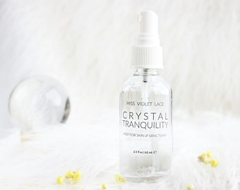 Crystal Tranquility Mist   Aromatic Skin and Sanctuary Mist   100% natural + vegan