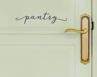 Pantry Door Decal - Modern Farmhouse Style Kitchen Wall Decals - Country Cottage - WB411