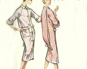 McCall's 4598 Brunch Coat Dress Sewing Pattern ©1958, Size 14 Bust 34