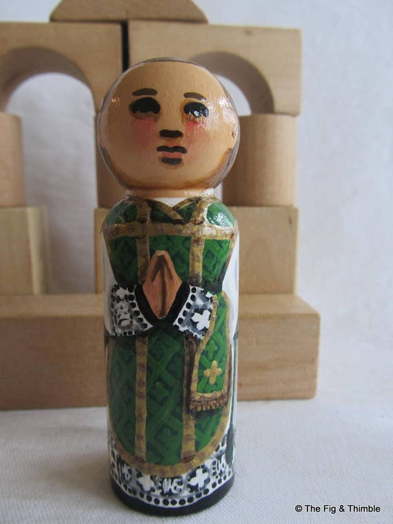 "Priest Peg Doll Large 3.5"" size"