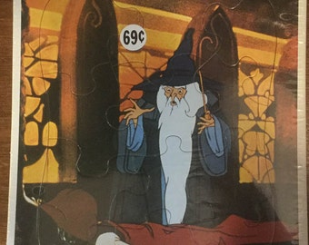 Vintage 1970s Frame Tray Puzzle Lord of the Rings
