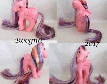 Custom Rehaired My Little Pony G1 TE Locket pink pegasus