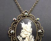 Fairy cameo, Gothic Jewellery, Fairly necklace, Fantasy necklace, fairly cameo, cameo necklace