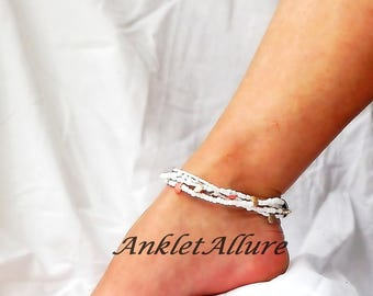 Anklet Beach Ankle Bracelet Shell Jewelry Cruise Jewelry Multi Strand Anklets Pedicure Accessories