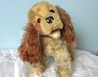 Vintage Mohair Spaniel - Trudi from Italy- Italian Soft Toy Spaniel