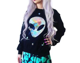 Custom Color Holographic Believer Sweatshirt