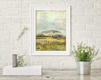 """Colorado Print, Colorado Art, Mixed Media, Mountain Print, Mixed Media Photography, Crested Butte Art, Mountain Art, 8""""x10"""" or 11""""x14"""" Print"""