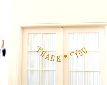 THANK YOU Banner.  Ships Priority.  Photo Prop.  Baby Shower.  Baby Sprinkle.  Wedding.  Any Occasion.  5280 Bliss.