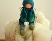 "Reserved for Natalia-Waldorf doll, Knitted doll Brigitte 13"", rag doll, OOAK, handmade doll by Peperuda dolls, soft doll"