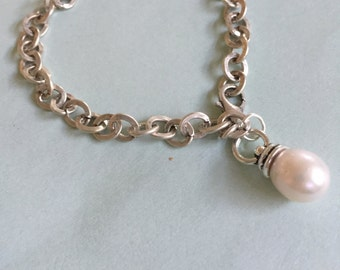 Silver and Freshwater Pearl Bracelet