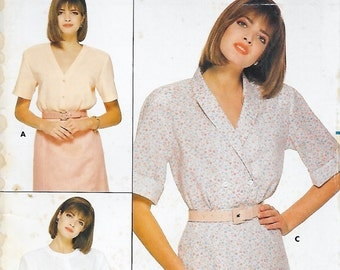 Butterick 3692 Misses' 80s Blouse Sewing Pattern Size 14, 16, 18. Bust 36, 38, 40
