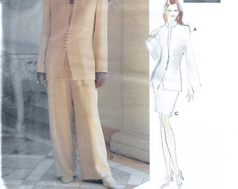 Vogue Attitudes 1548 Lauren Sara Misses' Jacket, Top, Skirt & Pants Sewing Pattern Size 6 to 10 Bust 30 1/2 to 32 1/2
