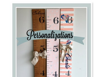 Custom Name - Personalized Growth Chart - Custom Wood Sign - Personalized Baby Gifts - Add-on Item Only