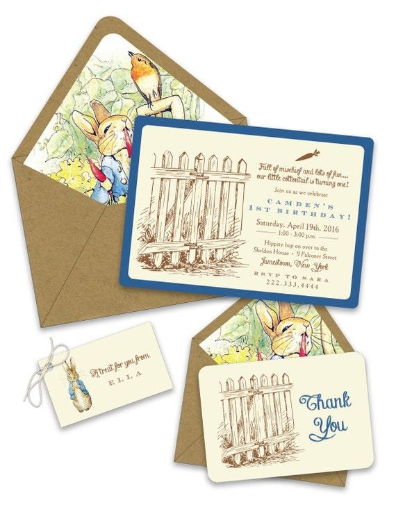peter rabbit birthday invitations, Birthday invitations