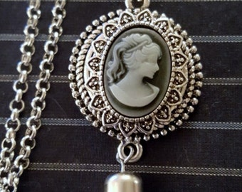 Black Cameo Snap Charm Fits 18-20mm Ginger Snaps, Noosa, Magnolia & Vine, Others Free Shipping