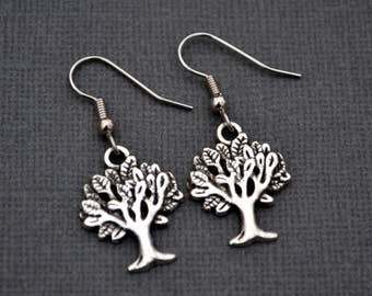 Silver Trees . Earrings