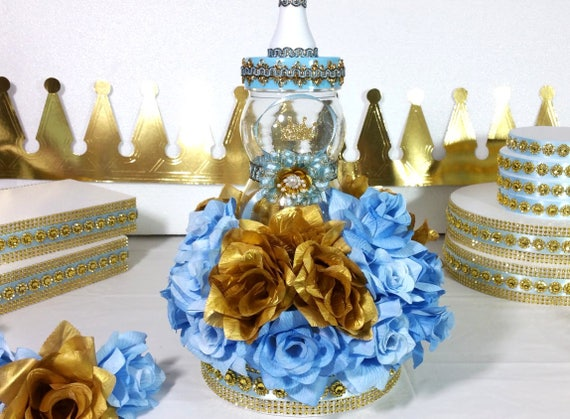 Little prince baby shower centerpiece for royal baby for A new little prince baby shower decoration kit