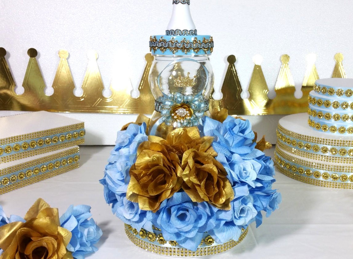 little prince baby shower centerpiece for royal baby shower