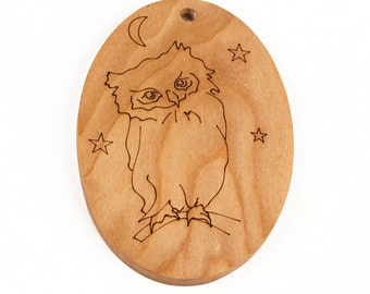 Owl // christmas ornament // wooden ornament // holiday decoration