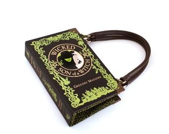 Wicked Book Purse - Decadence Handbag - Book Clutch Handbag, Novel Bookpurse - Great Christmas gift for book lover, teacher, librarian