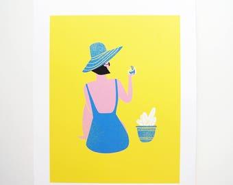 Summer Lady Print