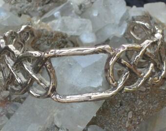 Celtic Knot Bracelet in Bronze.Biker Bracelet.Bronze Bracelet.Medieval Bracelet.Celtic Bracelet. Renaissance Bracelet.