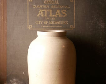 Vintage Large Earthenware Jug - Great Stoneware for the Mudroom or Front Porch