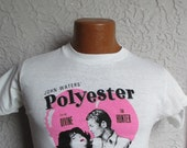 Vintage John Waters Polyester T Shirt Screen Stars med