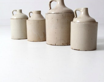 antique American stoneware jug collection