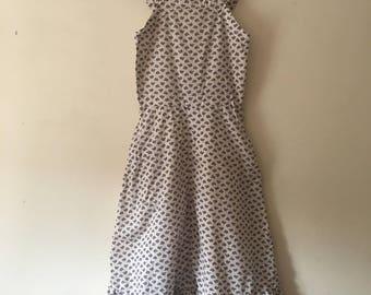 1970s Floral maxi dress