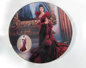 Bradford Exchange Collectors Plate GWTW The Costuming Of A Legend: Dressing Gone With The Wind - The Red Dress MIB 1st Issue