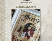 Christmas Krampus cross stitch patterns by The Primitive Hare at cottageneedle.com holidays December Winter folklore anti-Santa Claus