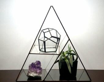 Jewelry Display, Jewelry Storage, Jewelry Box , Glass Display Box, Geometric Glass , Stained Glass