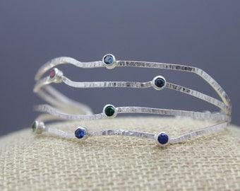 Birthstone Bracelet, Mom Bracelet, Silver Birthstone Jewelry, Mom Jewelry, Personalized Bracelet, Grandma Bracelet, Family Bracelet