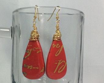 Red Dancer earrings