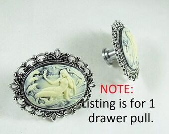 Mermaid Cameo Drawer or Door Pull,  Home Improvement, Home Decor Handmade