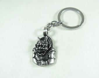 Gargoyle Key Ring, Pewter, Mens Accessories  Handmade