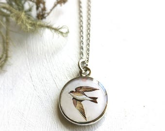 Swallow Necklace, Symbol of Motherhood, Family, Symbolic Necklace, New Life Status, Mothers Day Necklace, Mothers Day Gift, Graduation Gift