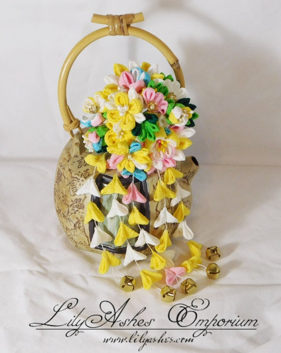 Multi Style Yellow Bouquet Hair Pin