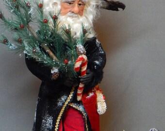 Art doll/Polymer clay/Old World Santa/OOAK/Heirloom Santa/Santa Collectibles/Santa Claus/Handmade/Hand Sculpted/Christmas/OOAK Santa