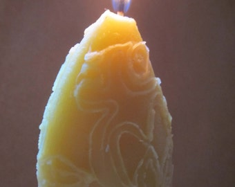 The Purist Pillar- 100% Beeswax Large Pillar Candle, Eco-friendly Candle, Natural Yellow color, Ready to ship