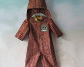 I Am Baby Groot, Tree Costume: 2 Piece Set - Jumpsuit, Hood/Crown - All Cotton Fabric, Size 3, 6, & 12 Months, Ready To Ship