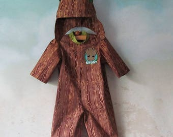 LAST CHANCE! I Am Baby Groot, Tree Costume: 2 Piece Set - Jumpsuit, Hood/Crown - All Cotton Fabric, Size 3 Months, Ready To Ship