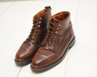 Vintage Cole Haan Brown Leather Ankle Boots, Mens 9 1/2  / ITEM341
