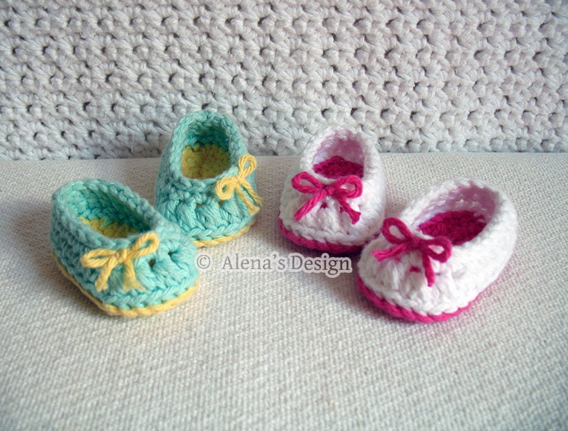 Crochet Pattern 136 Crochet Shoes Pattern18 inch Doll Bow