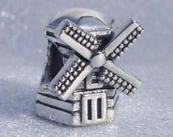 Authentic Pandora, Windmill, Bracelet Charm, Silver, 925 ALE, Travel, Memories, Gift Ideas, FREE SHIPPING
