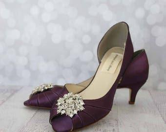 Wedding Shoes Plum Purple